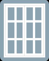 casement window double frame 6 x 6