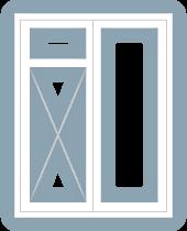 casement window double frame left top light left fixed